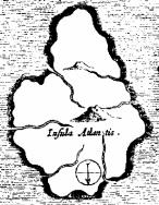Plato's Atlantis (north is at the bottom)