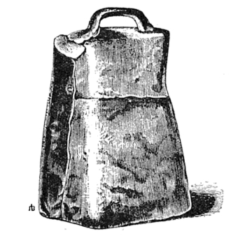Bell made of hammered iron, said to be St Patrick's and associated with swearing of oaths and the ability to curse and to cure ills