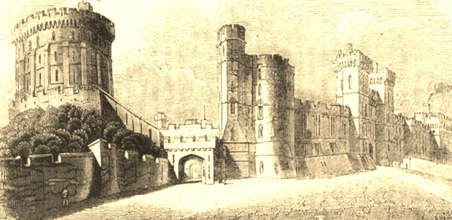 Windsor Castle, from an old print