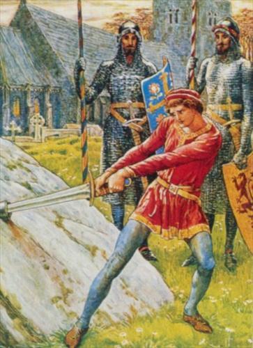 Walter Crane sword-in-stone