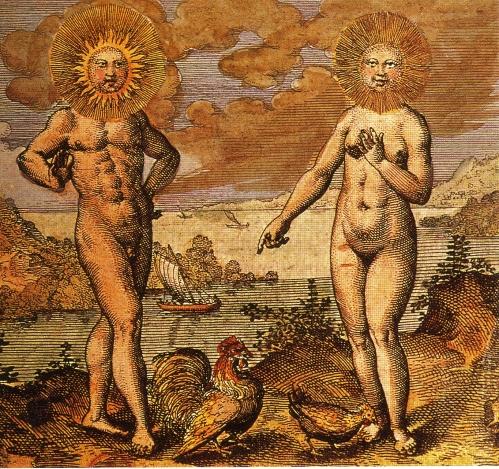 Alchemical sun and moon