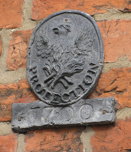 Phoenix fire plaque, Pickering © Copyright Pauline Eccles and licensed for reuse