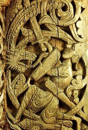 Sigurd fights the dragon