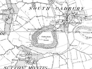 South Cadbury OS map 1885