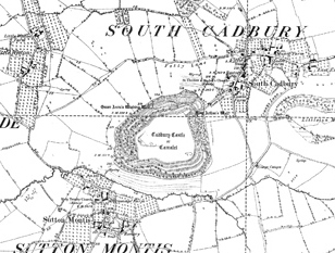 South Cadbury OS map 1885