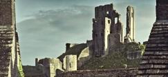 Corfe Castle postcard