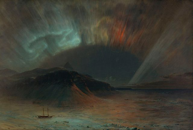 "Frederic Edwin Church's 1865 painting ""Aurora Borealis"": Wikipedia Commons"