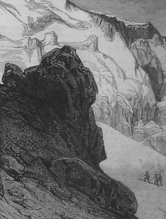 Alpine glacier, from a 19th century print