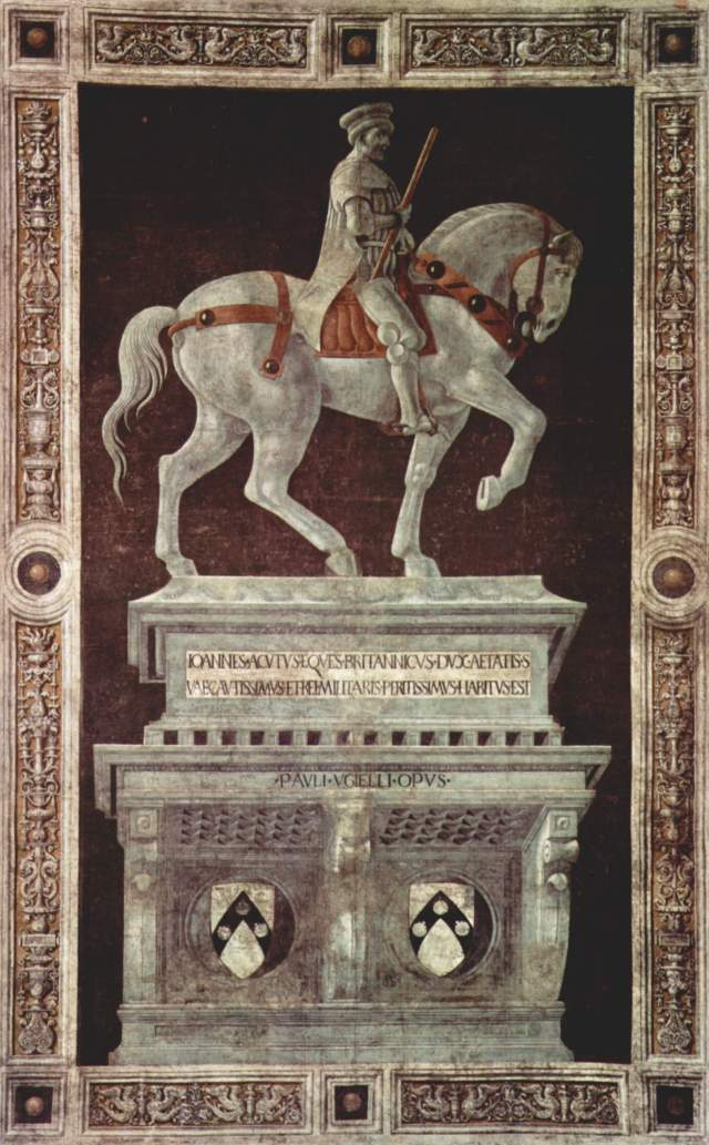 Sir John Hawkwood by Uccello, Duomo, Florence