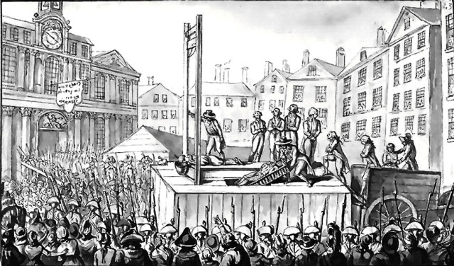 Execution of émigrés, 1793 (Wikipedia Commons)