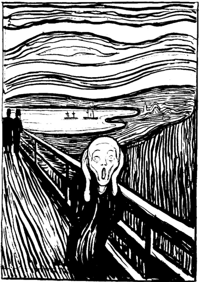 Edvard Munch 1895 lithograph of The Scream