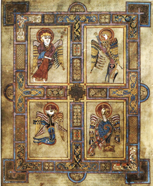 The four evangelists, the Book of Kells (Wikipedia Commons)