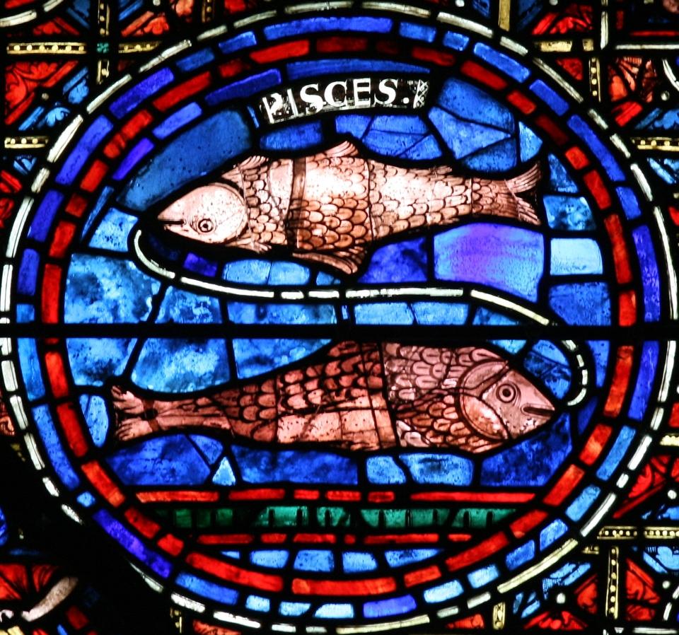 Zodiac Window (c.1220): Pisces
