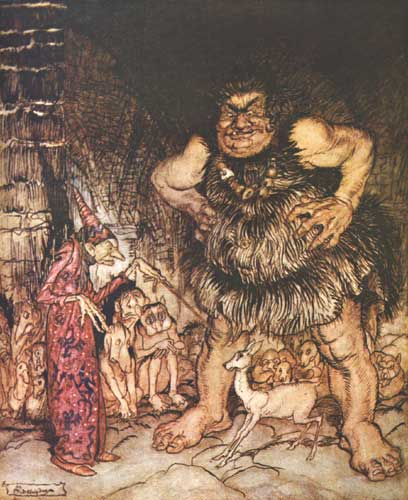Arthur Rackham: illustration for Jack the Giant Killer