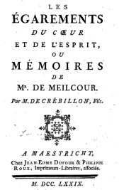 Les Egarements in a 1779 edition