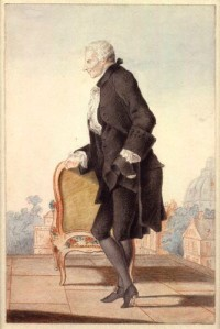 Laurence Sterne (c 1762) in Paris, by Louis Carrogis or 'Louis de Carmontelle'  (Wikipedia Commons
