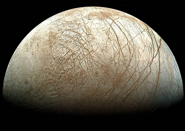 Gibbous moon of Jupiter, Europa (NASA image)