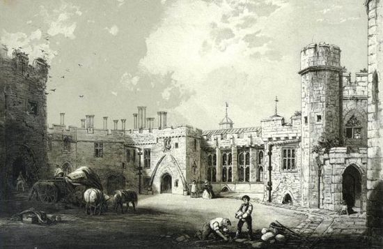 Berkeley Castle from an old print