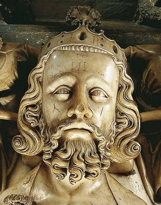 Effigy of Edward II in Gloucester Cathedral (http://piersperrotgaveston.blogspot.co.uk/2011/11/is-this-face-of-edward-ii.html)