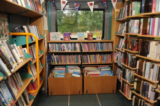 Inside a mobile library http://www.hillingdon.gov.uk/mobilelibrary