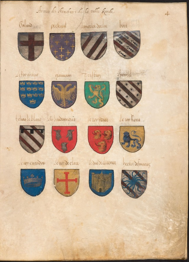 Arthurian Coats of Arms (Bodleian Library)