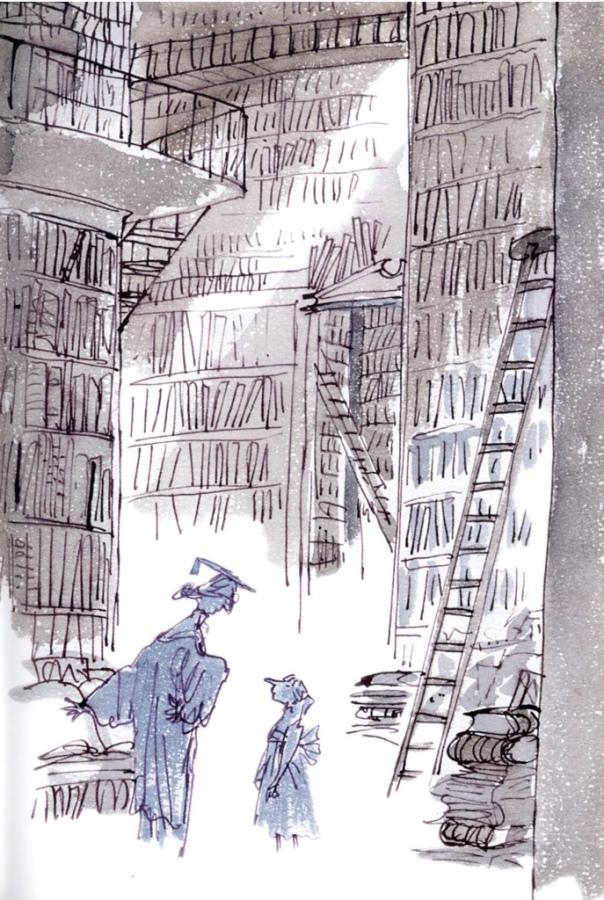 Scilla in the Banzoota school library