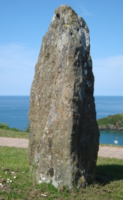 One of the stones in a gorsedd circle, Fishguard, Pembrokeshire