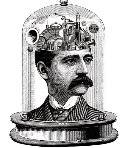 brain, old print