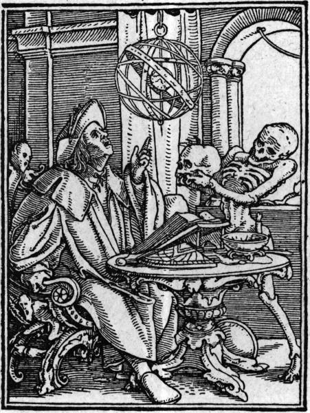 Holbeins Totentanz: der Sterndeuter - Holbein's Dance of Death / Astrologer -