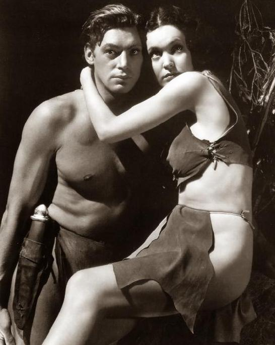 Johnny Weissmuller and Maureen O'Sullivan as Tarzan and Jane