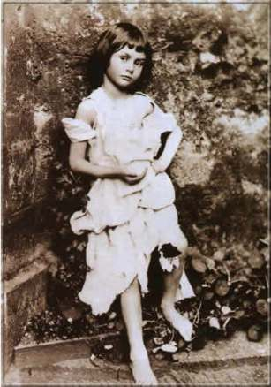 Alice Liddell as The Beggar Maid by Charles Dodgson 1857?