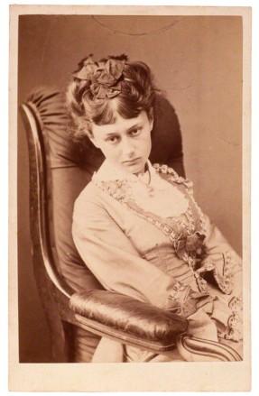 Alice Liddell aged 18 by Charles Lutwidge Dodgson: National Portrait Gallery NPG P991(11) carte-de-visite, 25 June 1870