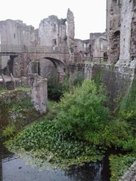Moat at Raglan Castle