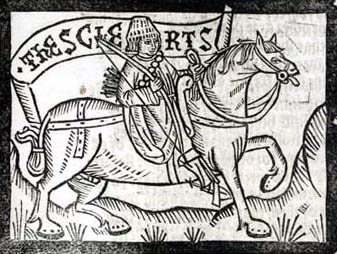 The Clerk from the 1492 Wynkyn de Worde edition of The Canterbury Tales