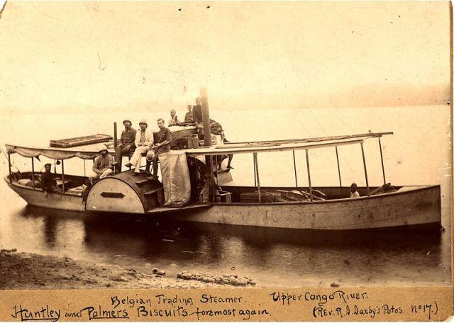 Congo trading steamer c 1890 [Public Domain]