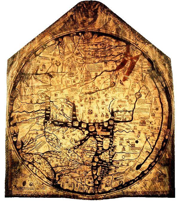 Hereford's Mappa Mundi (public domain)