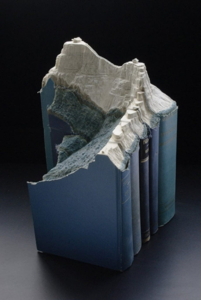 Carved Book Landscape by Guy Laramee
