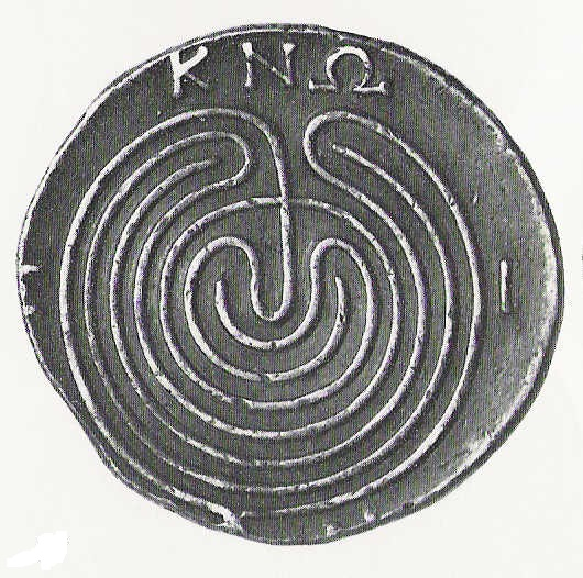 Knossos labyrinth coin