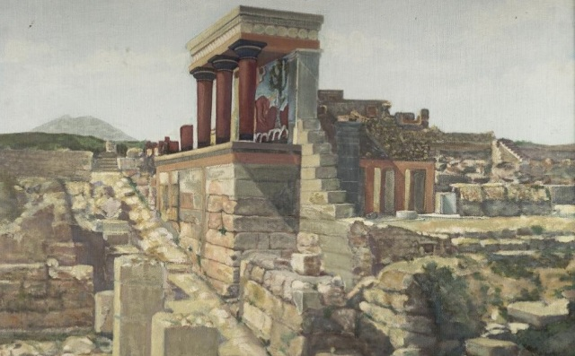 Reconstruction of part of Knossos complex (Wikipedia Commons)