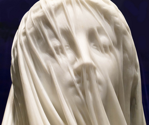Giovanni Strazza's Veiled Virgin is located in the Presentation Convent, Cathedral Square, St. John's, NL.