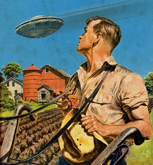 Cover art from UFO Journal June 1950
