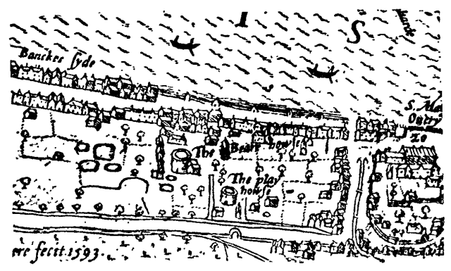 Bankside_-_the_Bear_Garden_and_the_Rose_Theatre_-_Norden's_Map_of_London,_1593