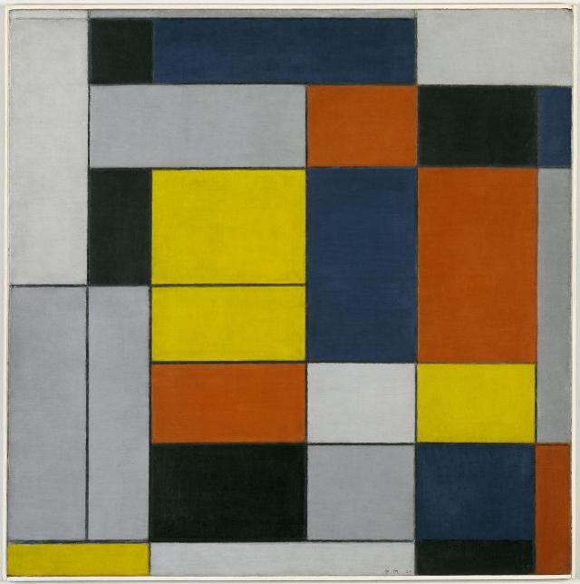No. VI / Composition No.II 1920 Piet Mondrian 1872-1944 Purchased 1967 http://www.tate.org.uk/art/work/T00915 Creative Commons CC-BY-NC-ND 3.0 (Unported) licence