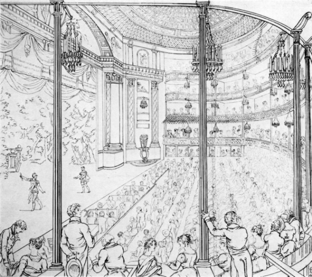 Theatre Royal Drury Lane 1813 (public domain)