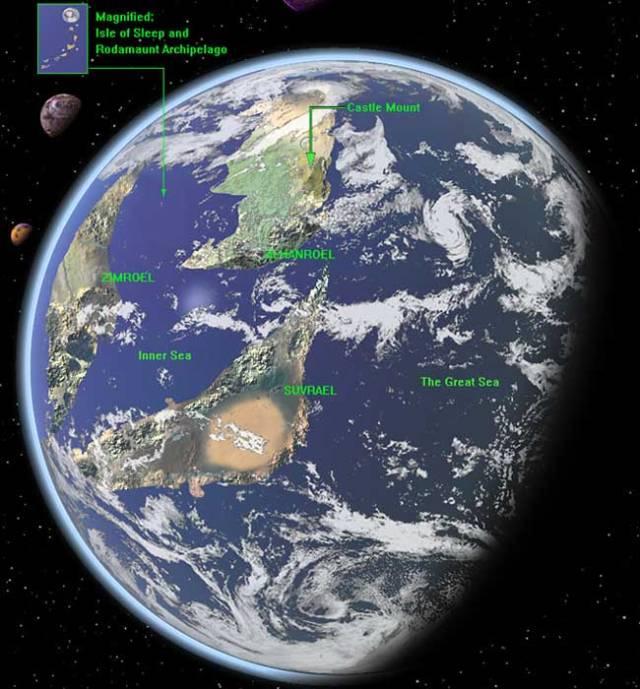 Majipoor globe