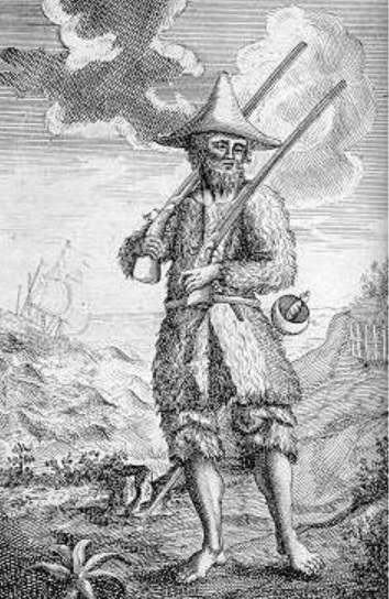 Robinson Crusoe, from the first edition 1719