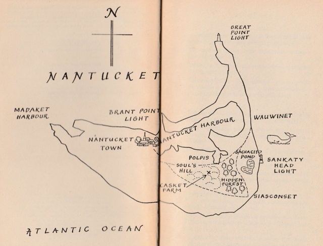 Nantucket, from the sketch map in the Puffin edition of Night Birds in Nantucket