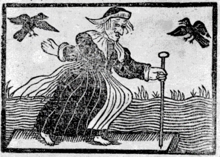 1643 woodcut of witch