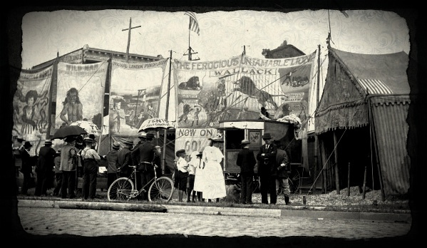Circus scene, 1930s