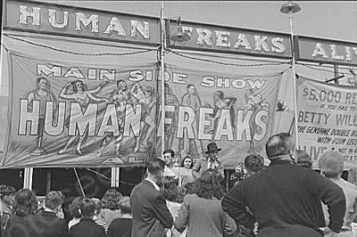 1940s freak show, Rutland, Vermont